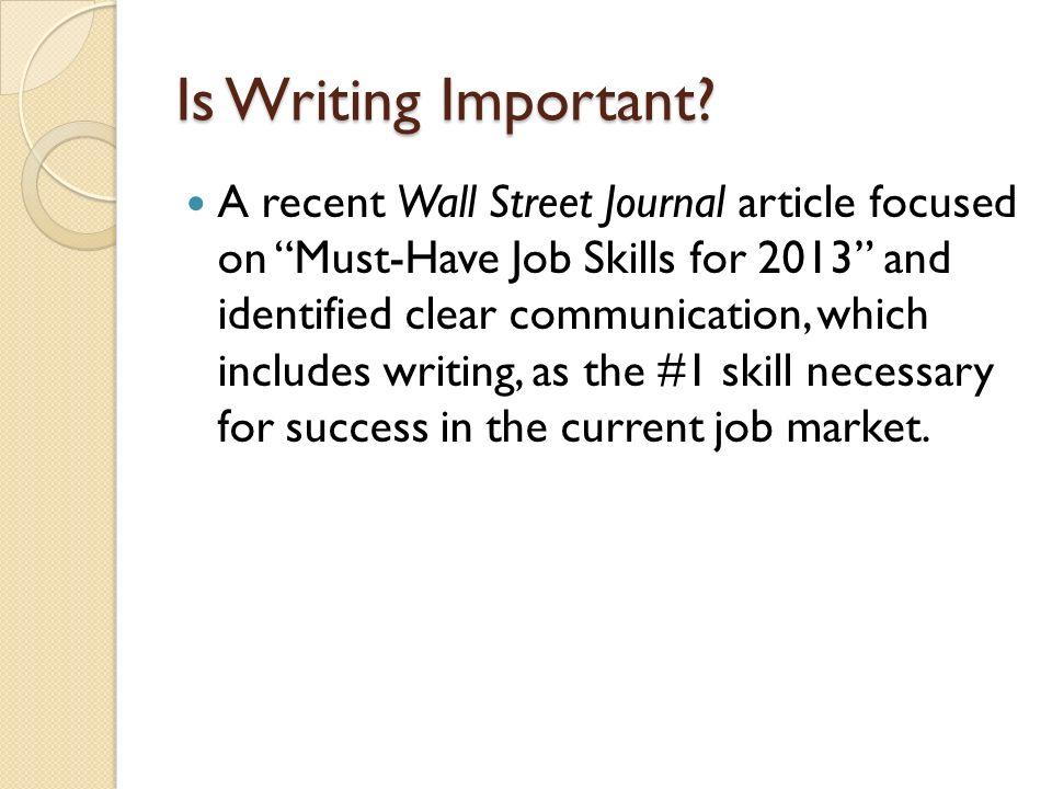 job skills necessary for success