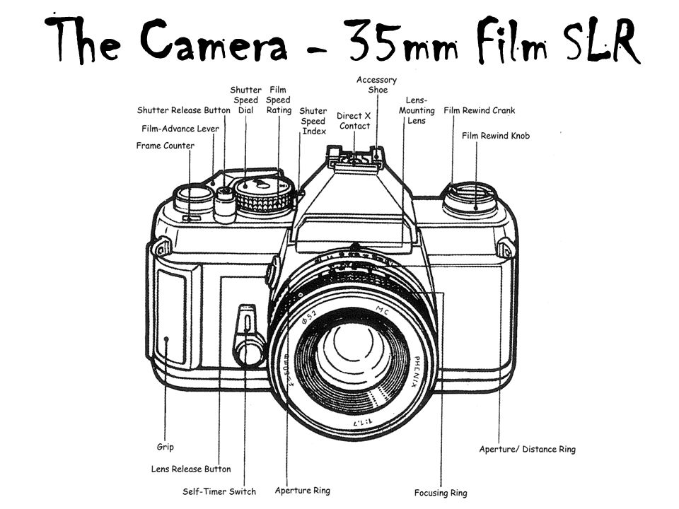 the camera using a 35mm slr camera an introduction to ppt download rh slideplayer com 35Mm Film Camera Labeled 35Mm Camera with Label