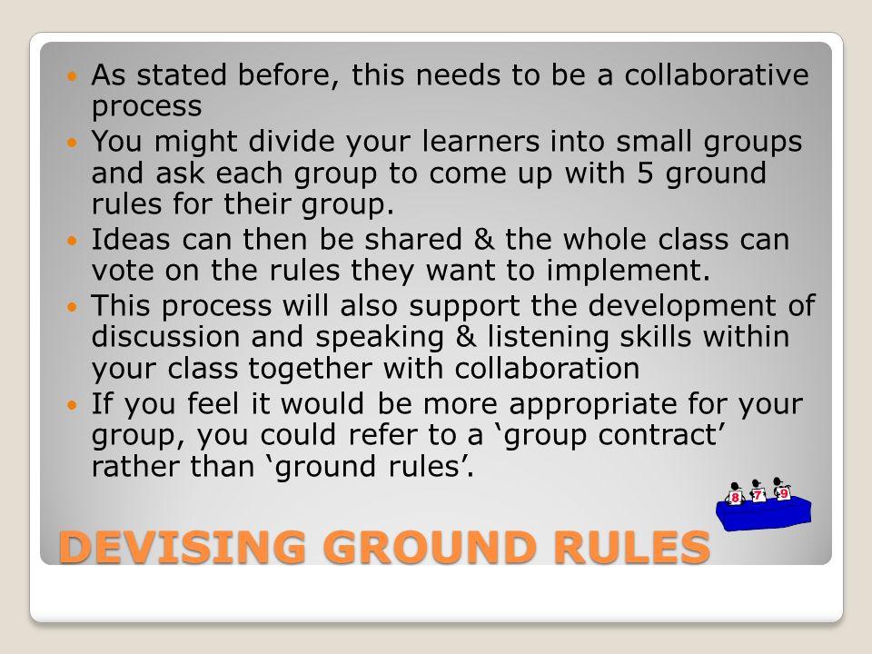 ground rules ptlls essays