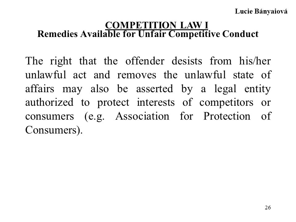 competition law unfair competition The northern district of california recently granted judgment on the pleadings in favor of patent-plaintiff chrimar systems, inc on antitrust and state law unfair competition counterclaims filed by accused infringers cisco and hewlett-packard (hp.