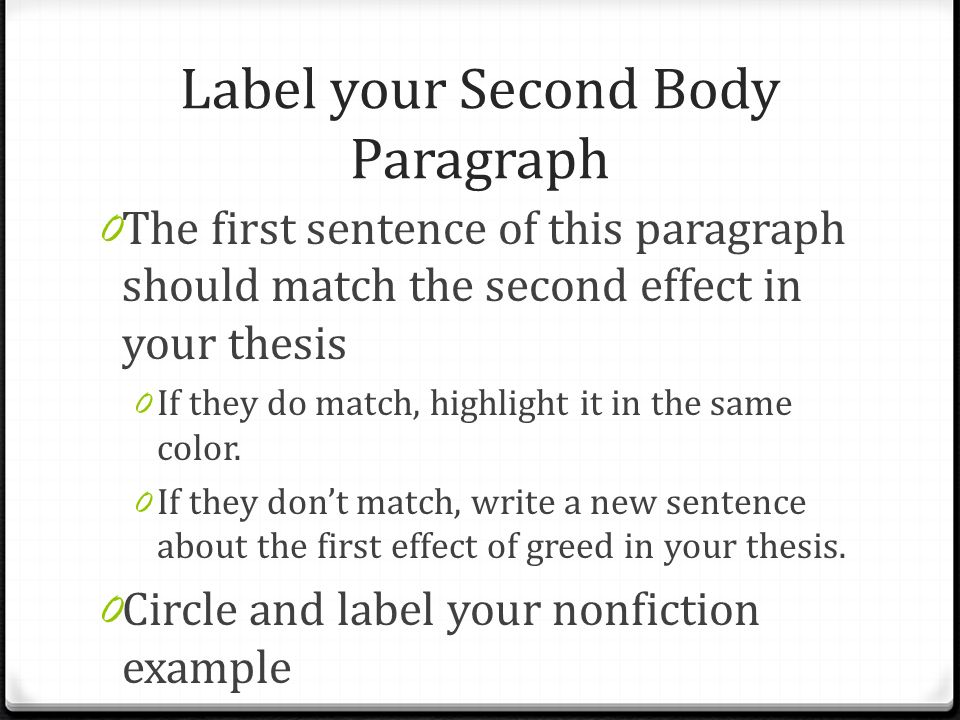 Label Your Second Body Paragraph 0 The First Sentence Of This Paragraph  Should Match The Second