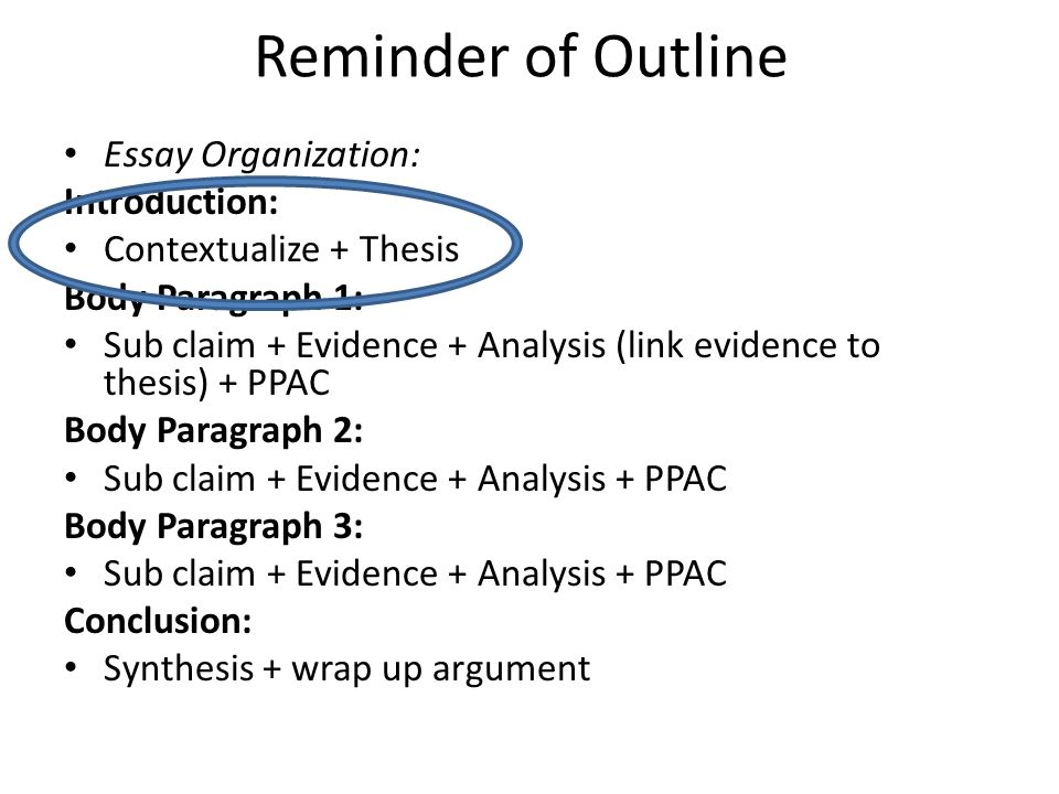 essay outline website
