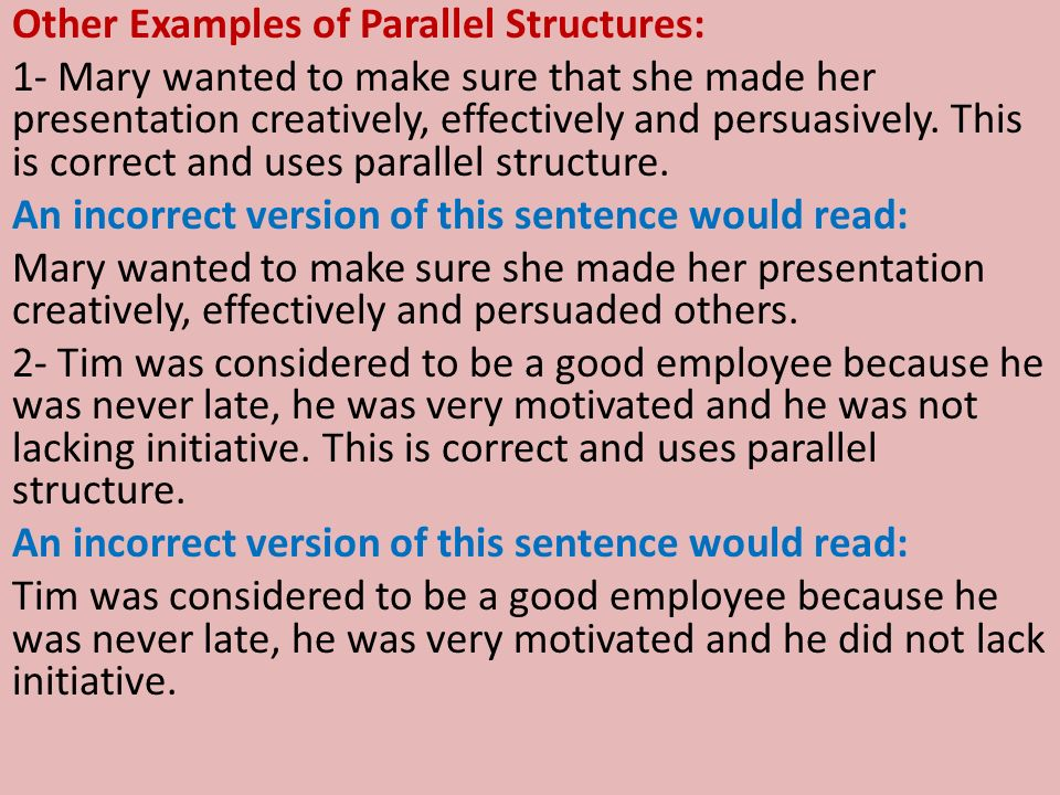 essays using parallelism