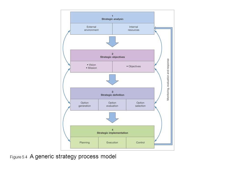 Figure 5.4 A generic strategy process model