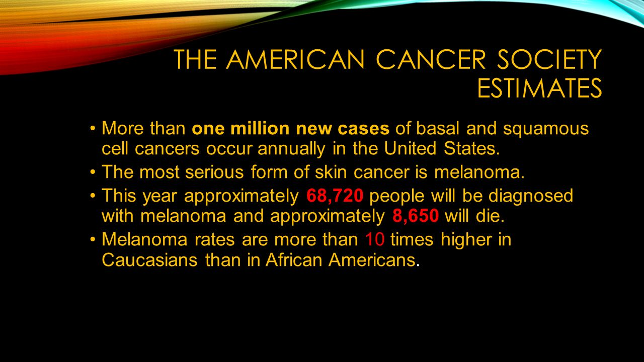 Skin cancer prevention and early detection dr kay hargett health the american cancer society estimates more than one million new cases of basal and squamous cell toneelgroepblik Gallery