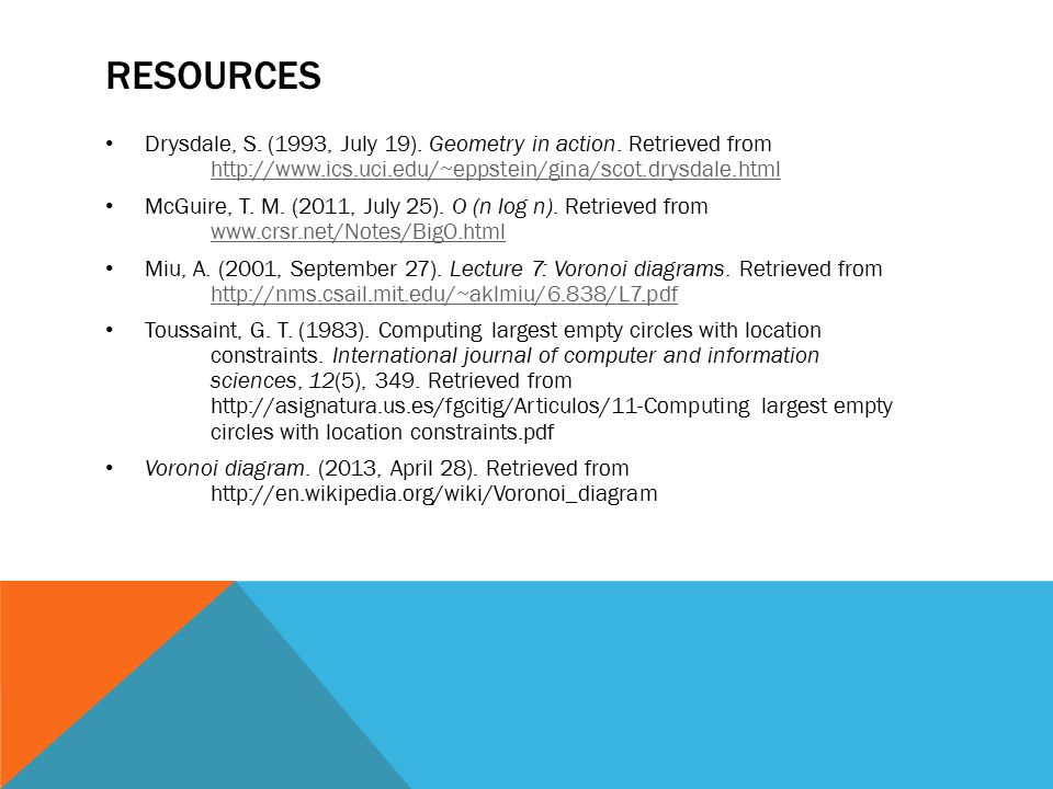 Voronoi diagrams by katharine tischer coordinating seminar spring 15 resources drysdale ccuart Images