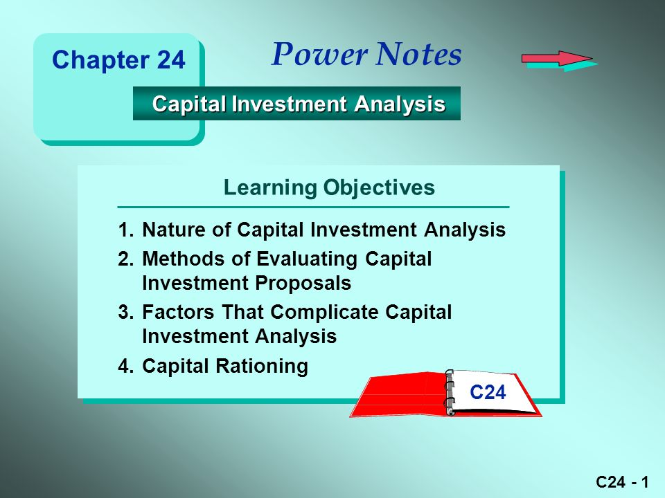 C Learning Objectives Power Notes 1.Nature Of Capital Investment