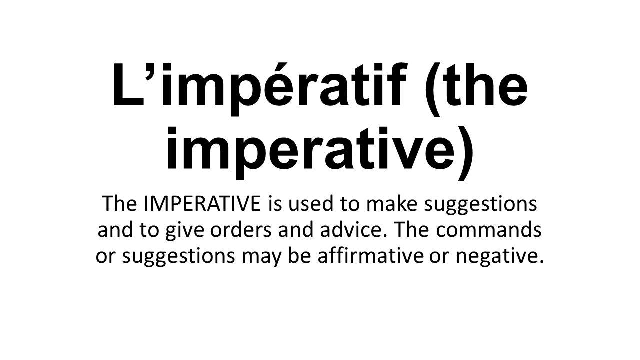 parler a l impératif