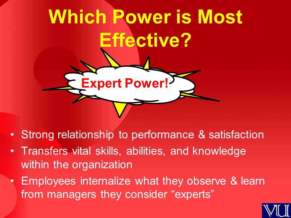 Which Power is Most Effective. Expert Power.