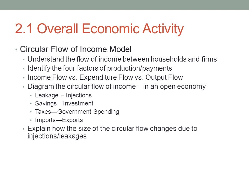 understanding the circular flow of income model The circular flow model shows the the simple circular flow model is useful for understanding some key sources of income, income, employment, circular flow.