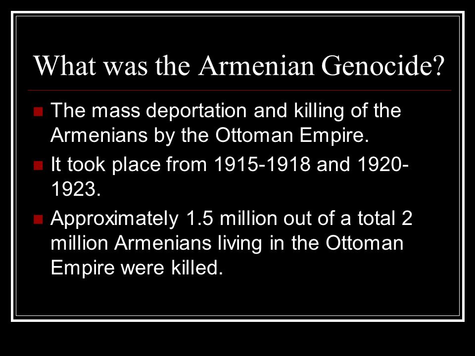 a history of the armenian genocide (image credit: armenian genocide by armenian-historycom) many scholars agree that the massacres of the 1890s escalated into the genocide of 1915.