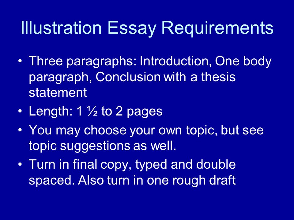 for illustrative essay