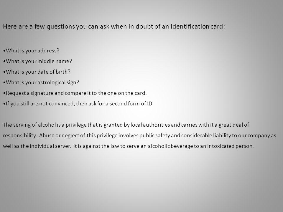 Responsible Service of Alcohol June Jump Start RSOA Quiz Your ...