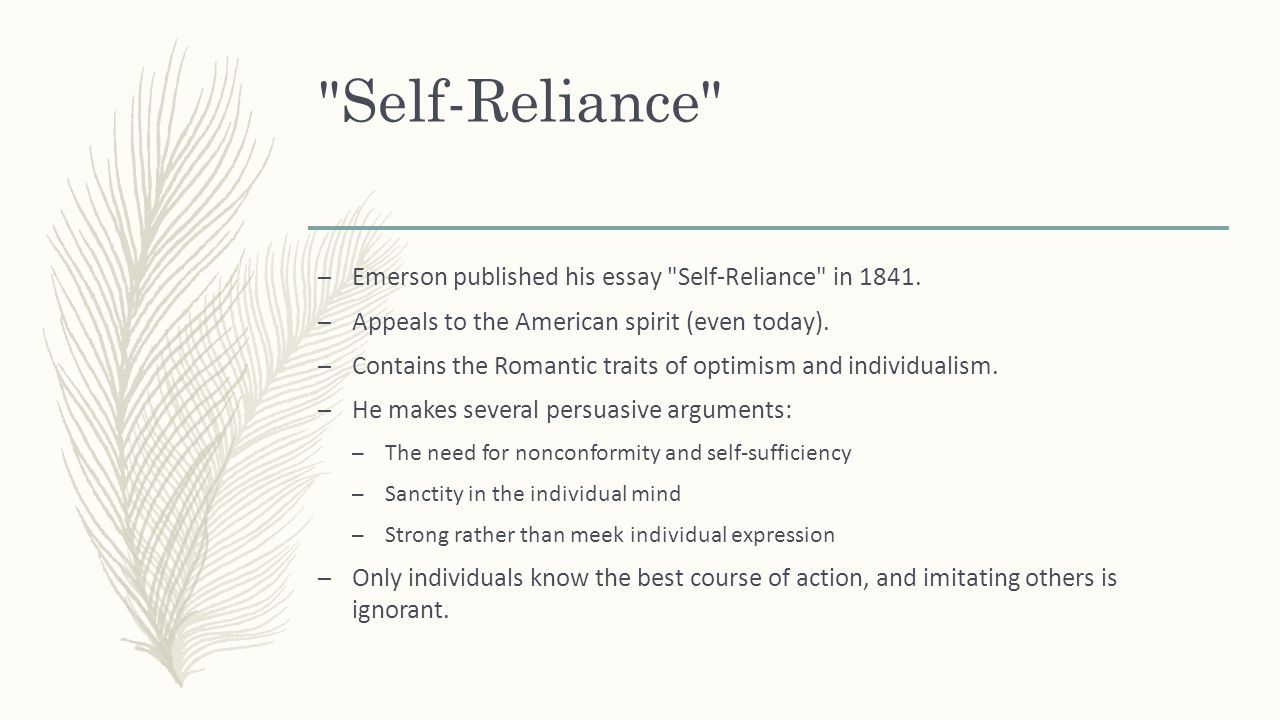 transcendentalism essay essay essays on transcendentalism  transcendentalism and american r ticism ralph waldo emerson and self reliance emerson published his essay self