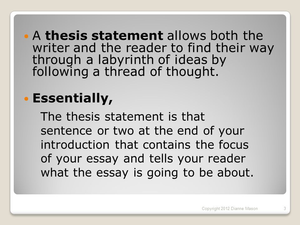 thesis copyright statement This free video tutorial helps explain the basics of drafting a thesis statement get the best test prep review for your exam.