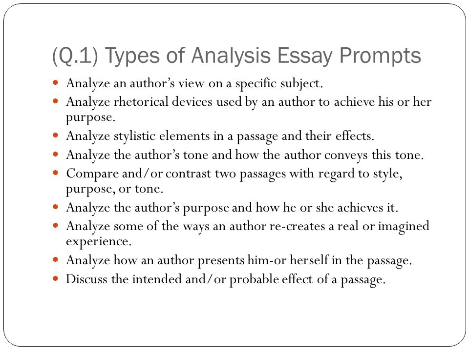 analysis essay writing prompt Sample essay responses pool of argument topics scoring guide this page contains the argument topics for the analytical writing section of the gre® general test.