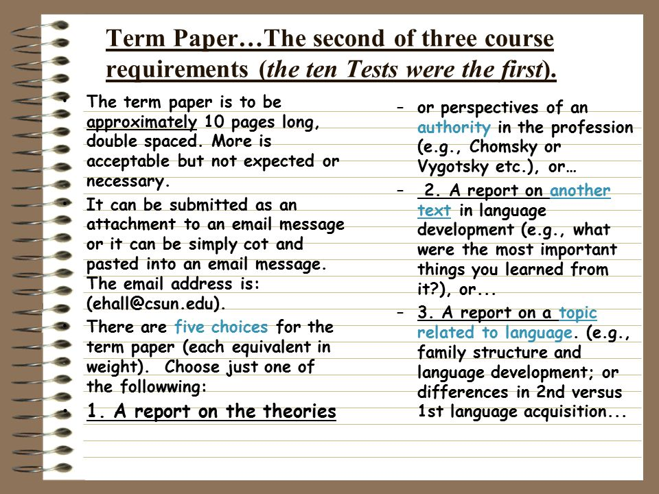 term paper secon language Excerpt from term paper : english as a second language - background knowledge knowledge shirley adams established in her research that along with vocabulary, a reader's background knowledge has been shown.
