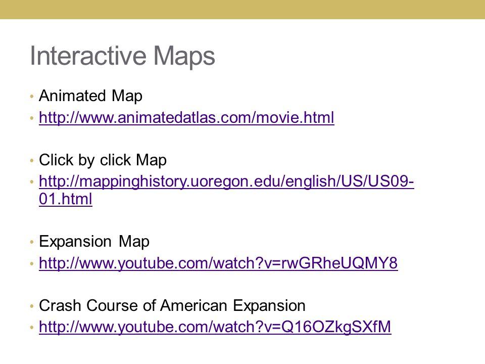 LAND EXPANSION MANIFEST DESTINY Interactive Maps Animated Map - Animated map of us expansion