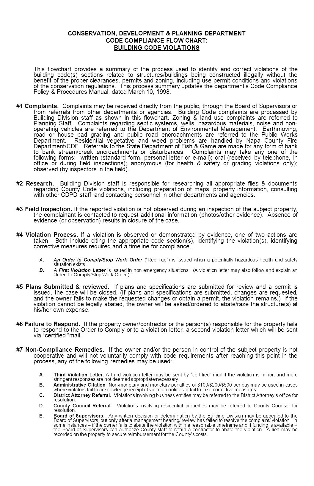 Napa County Conservation Development And Planning Department Code