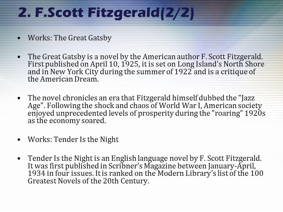 american novels list