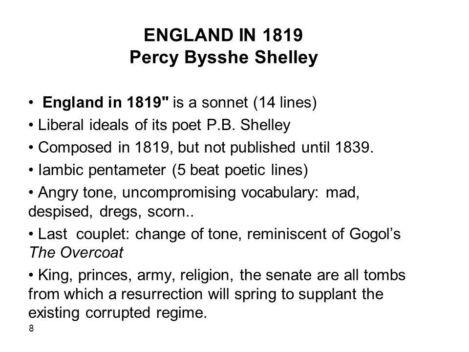 england 1819 p b shelley