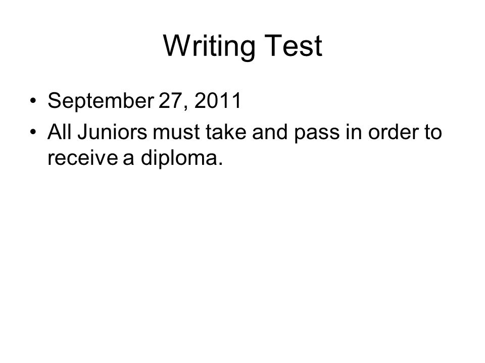 Need help Staying on TOPIC in a Final Writing test for Diploma.?