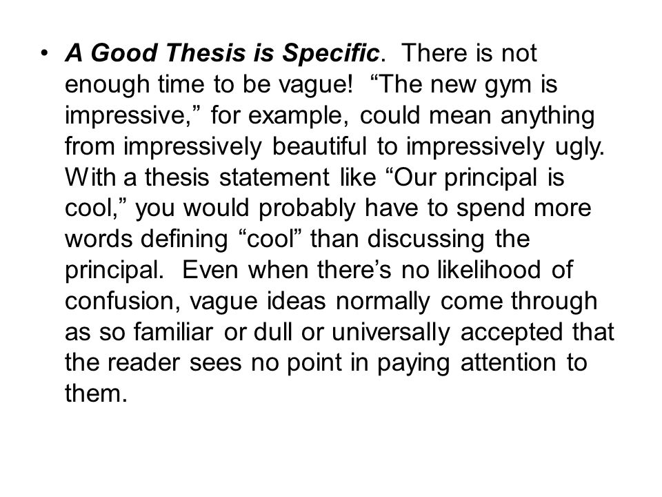good thesis statement beauty What is a thesis statement where does the thesis statement go a good practice is to put the thesis the thesis statement tips for writing/drafting thesis.