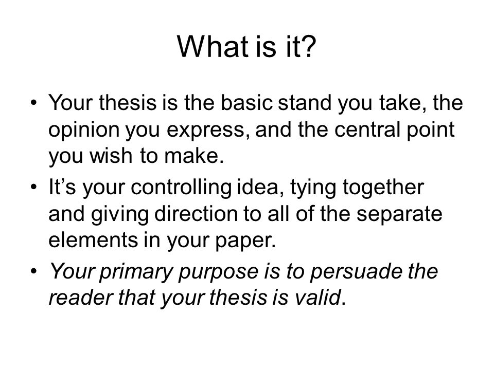 how to make a thesis