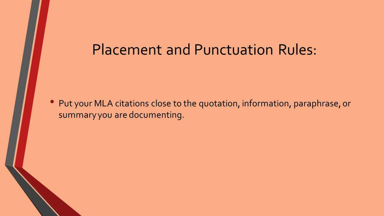 mla quote research paper Please consult them for more information on documentation or go to stylemlaorg/ mla style for academic work someone else's ideas or research.