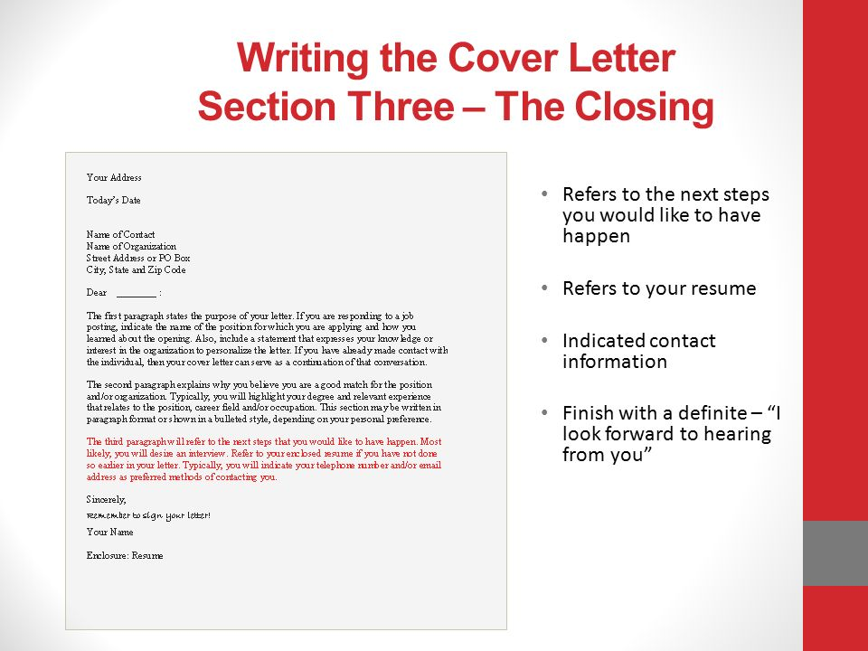 How to write email cover letter