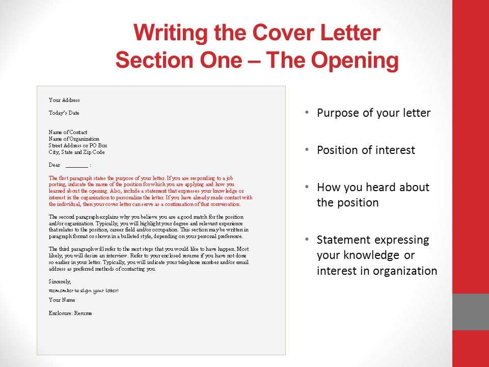 How to write a successful letter of application After9 Program – Statement of Interest Cover Letter