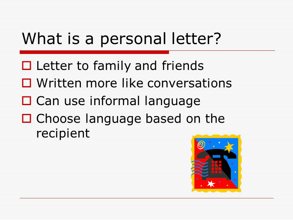 Types of Letters Personal Business and What is a personal
