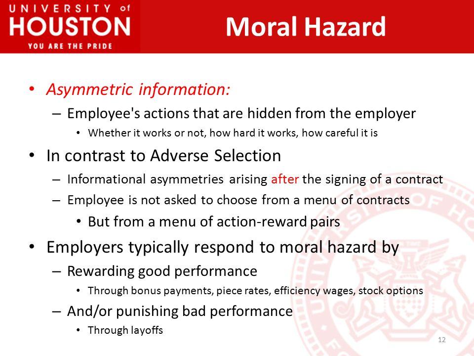 12 Asymmetric Information: U2013 Employeeu0027s ...