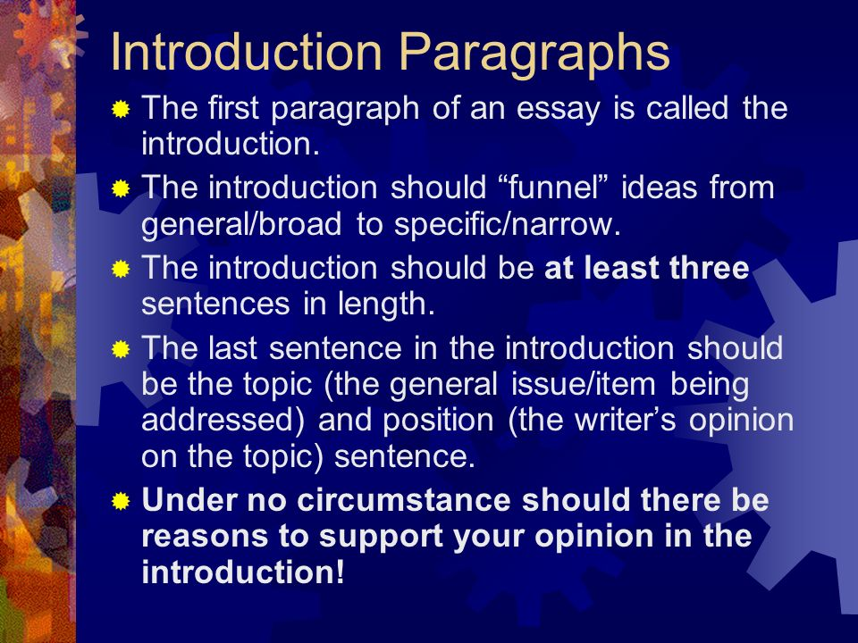 parts of an expository essay  introduction  body paragraphs  3 introduction paragraphs