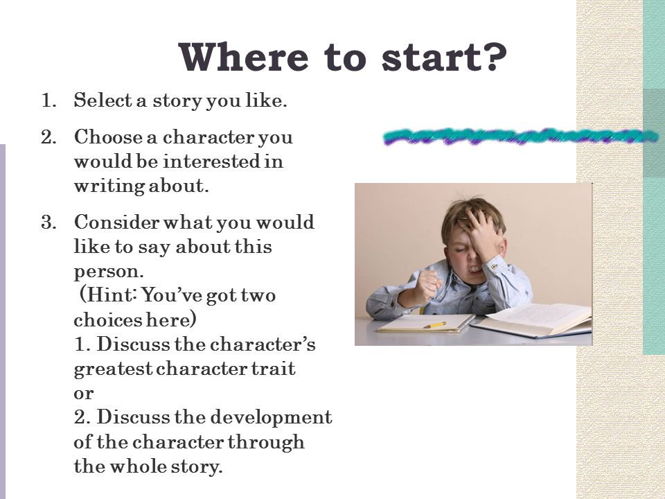 how to start writing a story