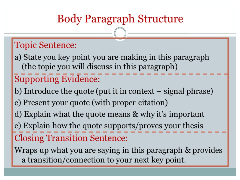 proper thesis paragraph The five-paragraph essay has three basic parts: and provides the thesis statement for the essay and with proper planning the experience can be gratifying.