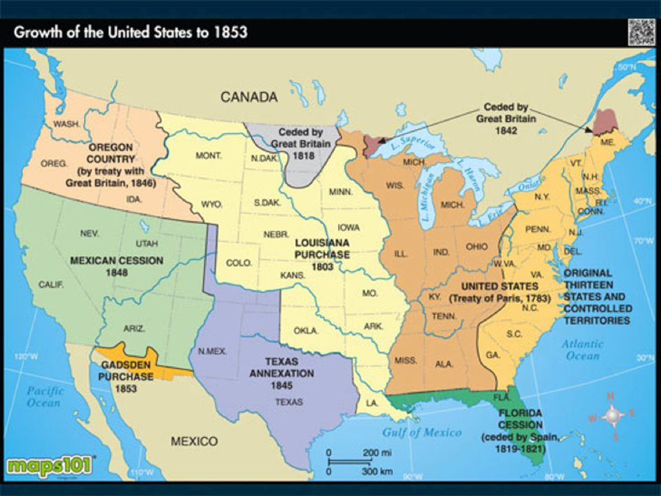 Westward Expansion The Concept Of Manifest Destiny And US Land - Us westward expansion map