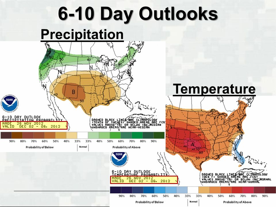 BUILDING STRONG ® 6-10 Day Outlooks Temperature Precipitation
