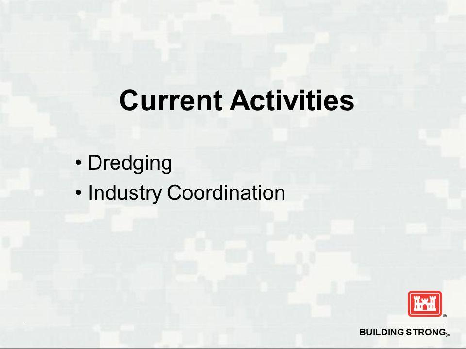 BUILDING STRONG ® Current Activities Dredging Industry Coordination