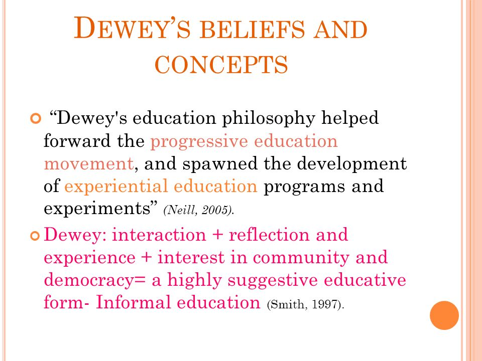 beliefs and education