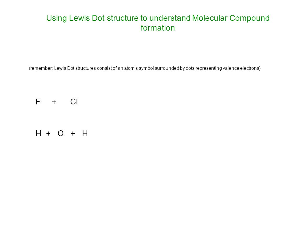 Covalent bonds and molecules ppt download 17 using lewis dot structure pooptronica