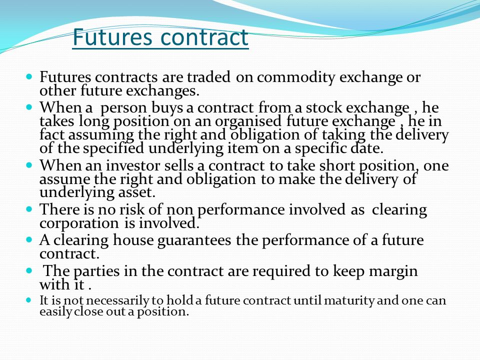 Forward Contract: Forward Comtract Is A Contract Between Two