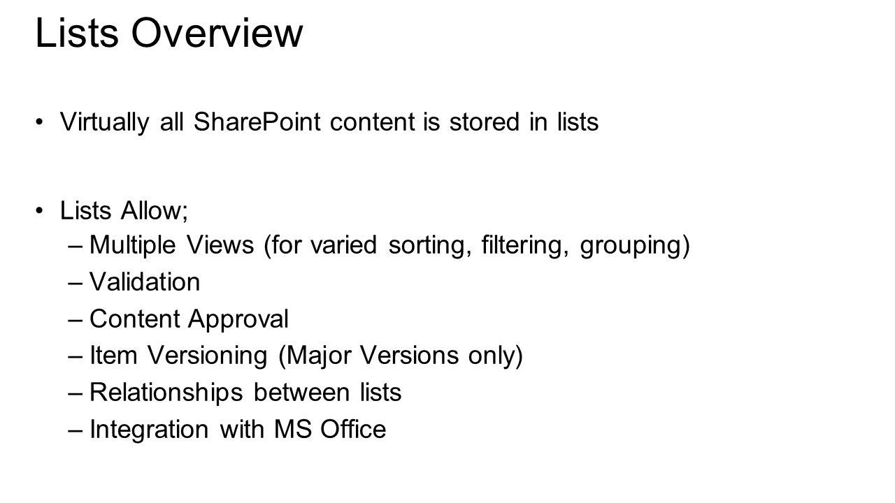 Microsoft virtual academy jamie mcallister sharepoint mvp 10 lists 1betcityfo Gallery