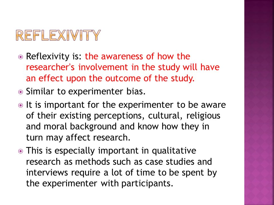 reflexivity paper This paper illustrates how teaching reflexivity in qualitative interviewing entails teaching epistemologically.