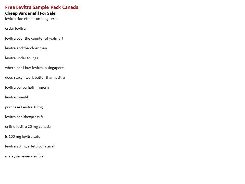 Free Levitra Sample Pack Canada Cheap Vardenafil For Sale levitra ...