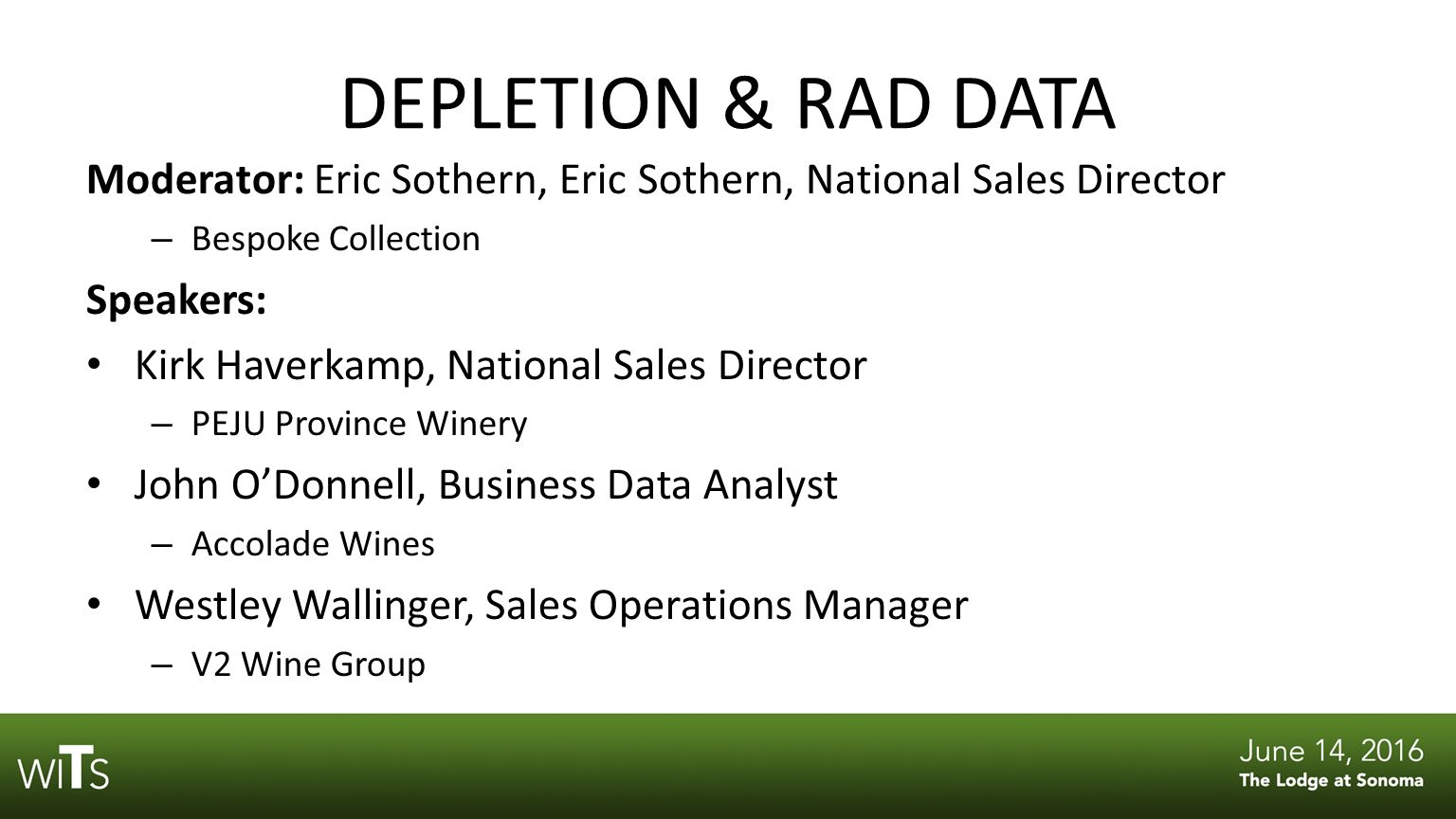 depletion rad data wine business monthly would like to thank 4 depletion
