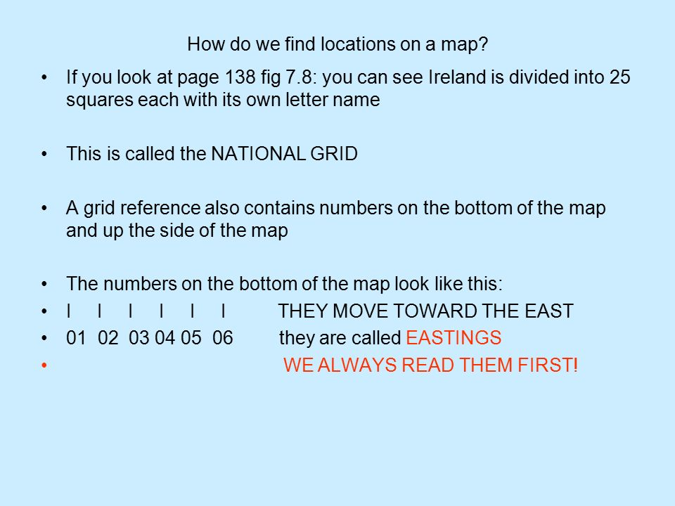 How Do We Find Locations On A Map