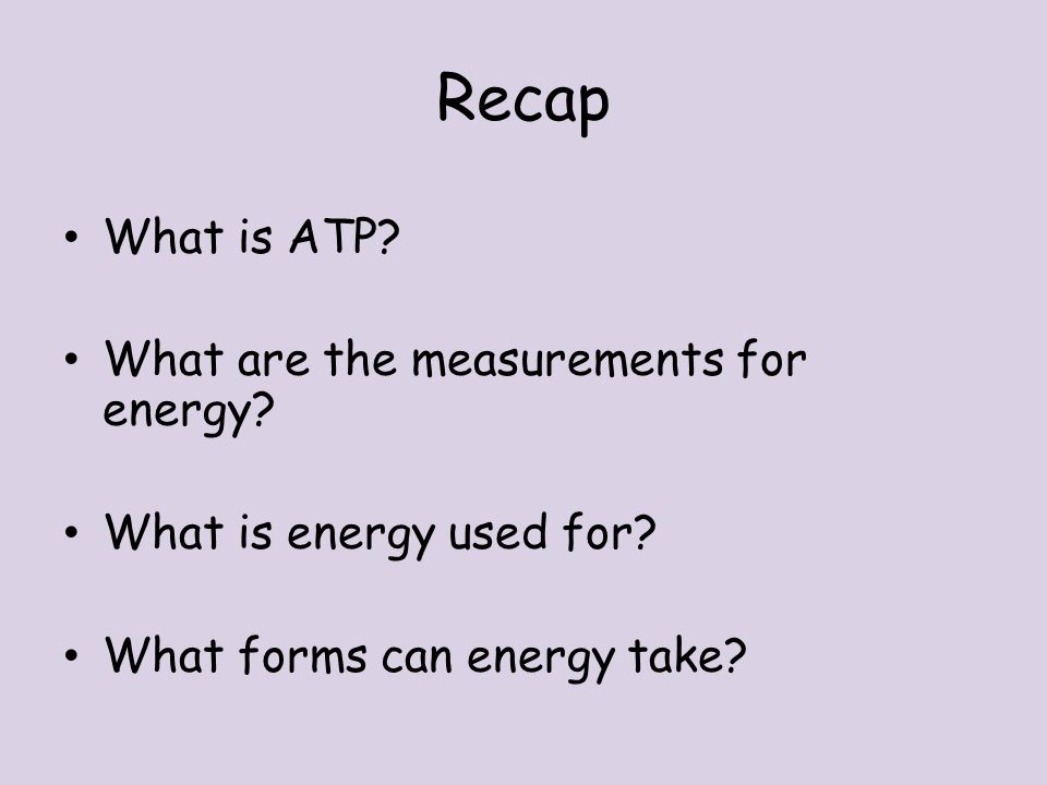 Anatomy and Physiology Unit 5 Sophie Bevan. Recap What is ATP? What ...