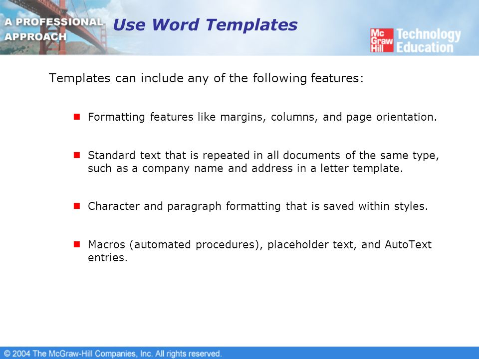 create a new template in word
