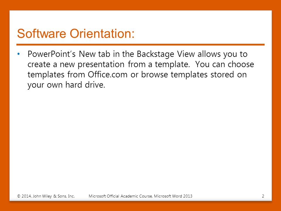 presentation basicspresentation basics lesson 2 © 2014, john wiley, Powerpoint templates